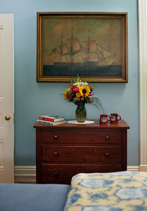 Night Stand with Flowers